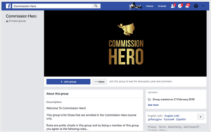 commission hero fb group