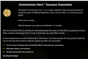 commission hero refund policy