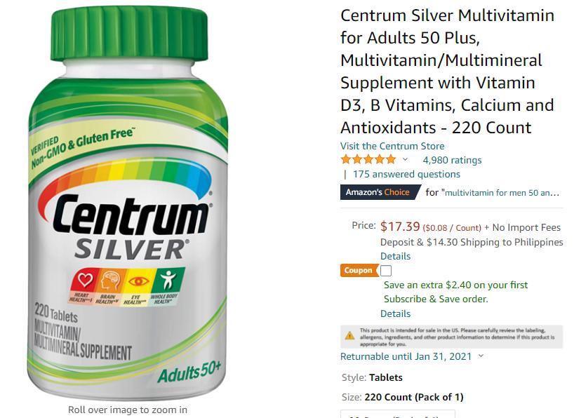 Centrum vitamins